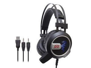 Gamestergear Falcon Over The Ear Stereo Pc Gaming Headset With Microphone Led Lights