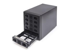 """Syba SY-ENC50118 5 Bay 2.5"""" and 3.5"""" SATA HDD External USB 3.0 / eSATA RAID Hard Drive Enclosure"""