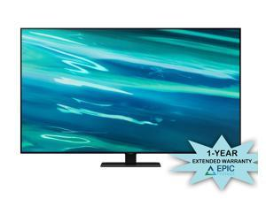 """Samsung QN55Q80AA 55"""" Class Ultra High Definition QLED 4K Smart TV with an Additional 1 Year Coverage by Epic Protect (2021)"""