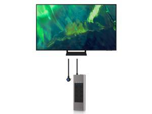 """Samsung QN65Q70AA 65"""" Class UHD High Dynamic Range QLED 4K Smart TV with an Austere V-Series 8-Outlet Power with Omniport USB (2021)"""
