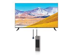Samsung UN85TU8000 4K Crystal 8 Series Ultra High Definition Smart TV with an Austere V-Series 8-Outlet Power w/Omniport USB (2020)