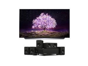 """LG OLED55C1PUB 55"""" 4K Ultra High Definition OLED Smart C1 Series TV with a Platin Audio MONACO-5-1-AXIIM-LINK 5.1 Sound System and Axiim-Link (2021)"""