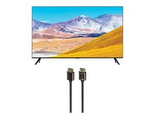 Samsung UN85TU8000 4K Crystal 8 Series Ultra High Definition Smart TV with an Austere 3S-4KHD1-2.5M III Series 4K HDMI Cable 2.5m Black (2020)