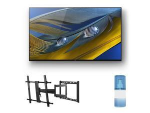 """Sony XR-65A80J 65"""" OLED BRAVIA XR 4K Ultra HD Smart TV with a Walts TV Large/Extra Large Full Motion Mount for 43""""-90"""" Compatible TV's and a Walts HDTV Screen Cleaner Kit (2021)"""