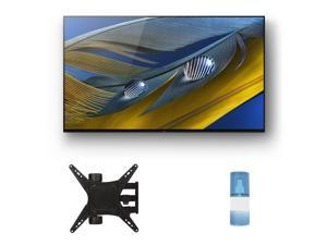 """Sony XR-55A80J 55"""" OLED BRAVIA XR 4K Ultra HD Smart TV with a Walts TV Medium Full Motion Mount for 32""""-65"""" Compatible TV's and a Walts HDTV Screen Cleaner Kit (2021)"""