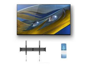 """Sony XR-77A80J 77"""" OLED BRAVIA XR 4K Ultra HD Smart TV with a Walts TV Large/Extra Large Tilt Mount for 43""""-90"""" Compatible TV's and a Walts HDTV Screen Cleaner Kit (2021)"""