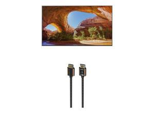 """Sony KD85X91J 85"""" 4K High Dynamic Range Full Array LED Smart TV with an Austere 3S-4KHD1-2.5M III Series 4K HDMI Cable 2.5m Black (2021)"""