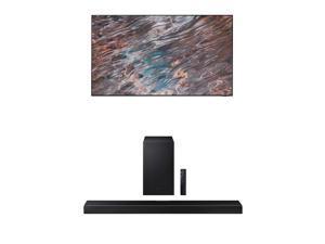 "Samsung QN75QN800A 75"" QN800A Series UHD Neo QLED 8K Smart TV with a Samsung HW-Q600A 3.1.2 Ch Dolby Atmos Soundbar and Wireless Subwoofer (2021)"