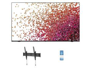 """LG 75NANO75UPA 75"""" Class Ultra HD 4K NanoCell Display Smart TV with a Walts TV Large/Extra Large Tilt Mount for 43""""-90"""" Compatible TV's and a Walts HDTV Screen Cleaner Kit (2021)"""