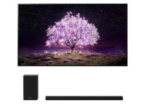 """LG OLED55C1PUB 55"""" 4K Ultra High Definition OLED Smart C1 Series TV with an LG SP9YA 5.1.2 Ch Dolby Atmos Soundbar with Wireless Subwoofer (2021)"""