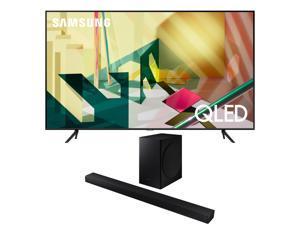 "Samsung QN75Q70TA 75"" QLED TV w/ a Samsung HW-T650  Soundbar and Subwoofer Bundle (2020)"