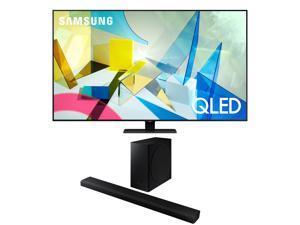 """Samsung QN75Q80TA 75"""" Smart TV w/ a Samsung HW-Q800T Soundbar and Subwoofer Bundle (2020)"""
