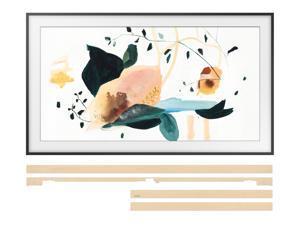 """Samsung QN75LS03TA The Frame 75"""" TV w/ Samsung VG-SCFT75BE 75"""" Beige Frame Bezel For TV Bundle (2020)"""