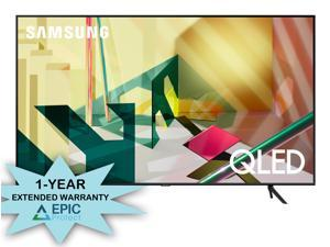 """Samsung QN75Q70TA 75"""" UHD QLED TV w/ Additional 1 Year Coverage by Epic Protect Bundle (2020)"""