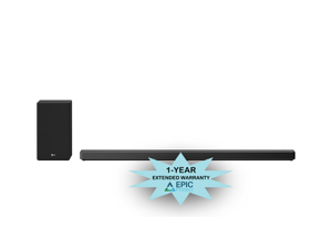 LG SN10YG Soundbar and Subwoofer w/ an Additional 4 Year Coverage by Epic Protect Bundle (2020)