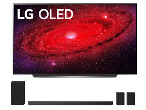 "LG OLED77CXP 77"" Self Lighting OLED TV w/ a LG SN11RG Sound Bar with  Speakers and Subwoofer Bundle (2020)"