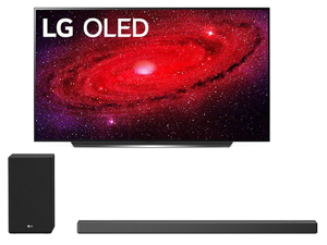 "LG OLED65CXP 65"" 4K Ultra High Definition Self Lighting Smart OLED AI ThinQ TV with a LG SN9YG Meridian Audio Technology 5.1.2 CH Soundbar With Wireless Subwoofer Bundle (2020)"