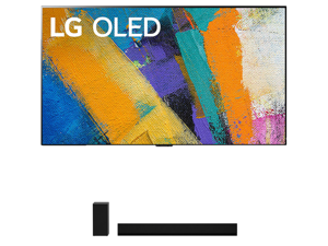 "LG OLED77GXP 77"" 4K Ultra High Definition OLED Smart Gallery TV with a LG GX 3.1 Channel High Res Audio Dolby Atmos Gallery Soundbar Bundle (2020)"