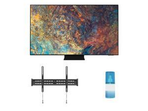 """Samsung QN55QN90AA 55"""" Neo QLED QN90AA Series 4K Smart TV with a Walts TV Large/Extra Large Tilt Mount for 43""""-90"""" Compatible TV's and Walts HDTV Screen Cleaner Kit (2021)"""
