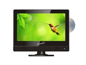 "SUPERSONIC SC-1312 13"" Black LED HDTV with Built-in DVD Player"