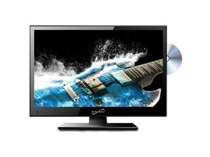 """SUPERSONIC SC-1512 15.4"""" Black 15"""" Class LED HDTV with Built-in DVD Player"""