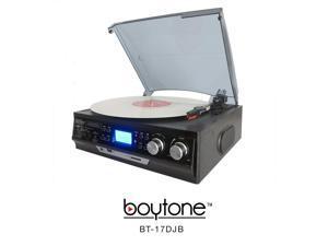 Boytone BT-17DJB Multi RPM Turntable, Black