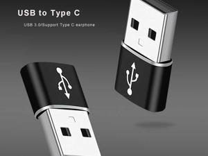USB C 3.0 Female to USB 3.0 Male Adapter (Upgraded Version) (2-Pack), Type C  to USB A  Adapter, Compatible with Laptops, Power Banks, Chargers, and More Devices with Standard USB A Ports (Black)