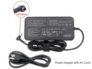 Genuine AC Adapter Charger 120W for ASUS ZenBook Pro UX550V UX550 UX550VD UX550VE-DB71T 15.6-inch NanoEdge FHD touch Laptop Power Supply 19V-6.32A N120W-02 ADP-120RH B (4.5*3.0mm DC Plug)