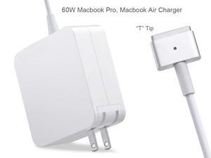 Macbook Pro Charger for A1425 A1502, AC 60W Magsafe 2 (T-Tip) Power Adapter Replacement for Macbook Pro with 13-inch Retina Display - After Late 2012, White Power Brick