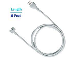 MacBook Pro Charger Extension Cable 6ft (1.8m, White) 45W 60W 65W 85W Power Adapter Extension Cord for Apple MacBook/Pro/Air US/CAN/MIX 3 Prong