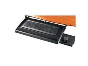 "Underdesk Keyboard Drawer Gel Rest 22-1/2""x11-3/4"" BK"