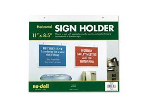NU-DELL MANUFACTURING Acrylic Sign Holder, Horizontal, 11 x 8-1/2, Clear