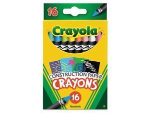 Crayola Construction Paper Crayons Wax 16/Pk 525817