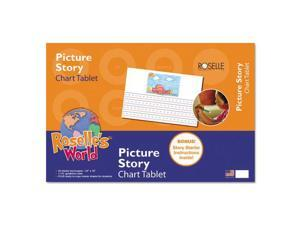 "Roselle Picture Story Chart Tablet, 24"" x 16"", Ruled Pages, 20 Sheets"