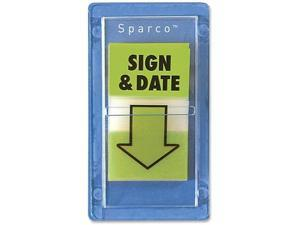 """Sparco Sign and DatePop-Up Flags 1""""x1-3/4"""" 100/PK Green 38010"""