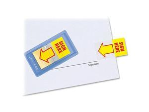 "Sparco Sign Here Arrow Flags Dispenser 1""x1-3/4"" 100/PK Yellow 19257"
