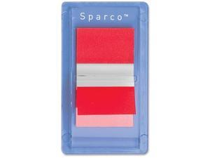 """Sparco Removable Standard Flags Dispenser 1"""" 100/PK Red 19260"""