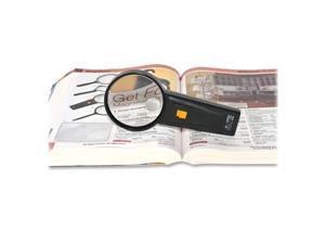 "Sparco Illuminated Magnifier Round 2X Main/4X Bifocal 3"" Dia. BK 01878"