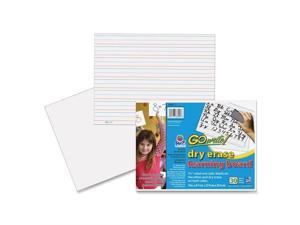 """GoWrite! Dry Erase Learning Boards - 11"""" Width x 8.25"""" Height - White - Frame - Film - 30 / Pack"""
