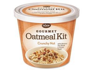 Sugar Foods N'JOY Crunchy Nut Oatmeal - Resealable Lid, Individually Wrapped - Cup - 1 Serving Cup - 2.29 oz - 8 / Carton