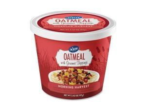 Njoy Morning Harvest Gourmet Toppings Oatmeal Kit - Resealable Lid, Individually Wrapped - Mixed Fruit, Mixed Nut, Brown Sugar, Morning Harvest - Cup - 1 Serving Cup - 8 / Carton