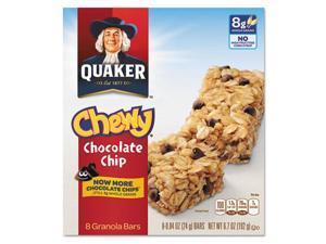 Granola Bars Chewy Chocolate Chip .84oz Bar 8/Box 12 Boxes/Carton