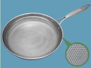 """Healthy Cooking """"Dimple"""" Design 11.5-in./ 28cm Stainless Steel Frypan"""