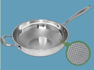 """Healthy Cooking """"Dimple"""" Design 11.5-in. / 28cm Stainless Steel Sautepan"""