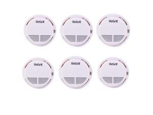 BeGrit Battery Powered Smoke Detector Alarm Combination 6 Pack (Batteries NOT Included)