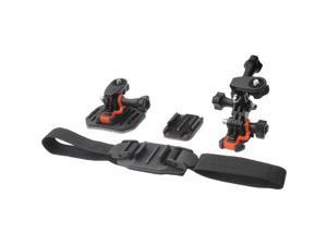 Vivitar Pro Series Curved Helmet, Flat Surface & Vented Helmet Mounts for GoPro & All Action Cameras