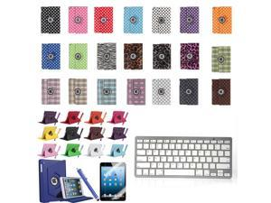 iPad 4 3 2 Air Mini Stand Leather Case with Bluetooth Keyboard