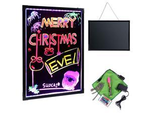 "Flashing LED Writing Board Menu Sign Fluorescent Message Erasable 32"" x 24"""
