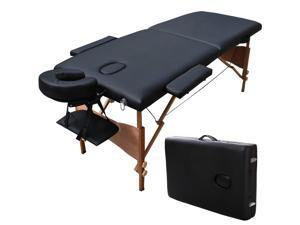 """84""""L Portable Massage Table Facial SPA Bed Tattoo w/Free Carry Case Black"""