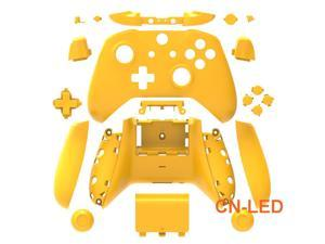 WPS Matte Yelow Case Housing Full Shell Set Faceplates + ABXY Buttons + RB LB Bumpers + Right/Left Rails for Xbox One S Slim  (3.5mm Headphone Jack) Controllers for 1708 version